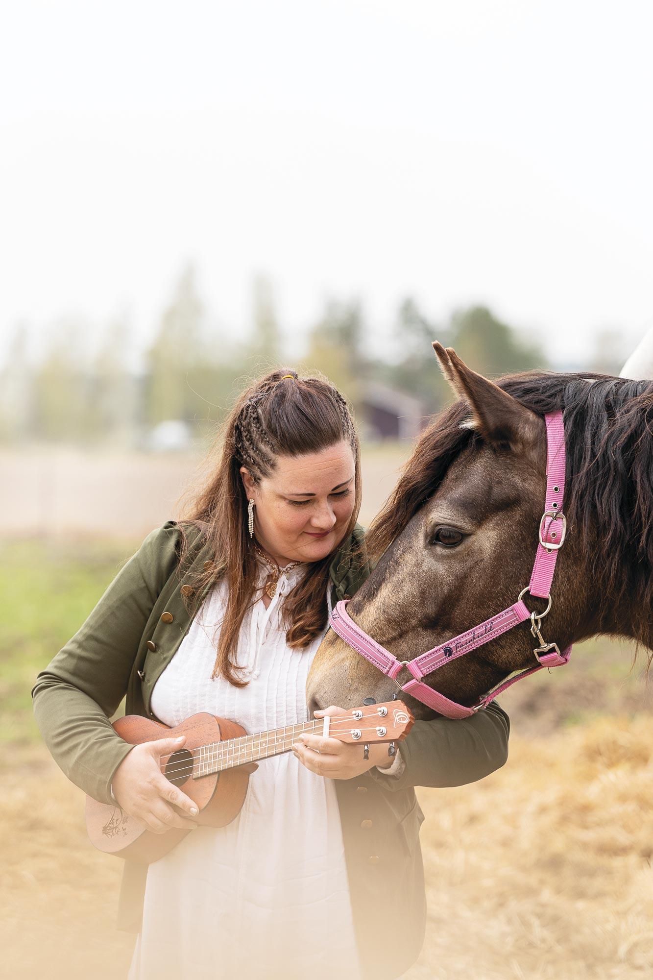 Sonja Jokiranta ja hevonen