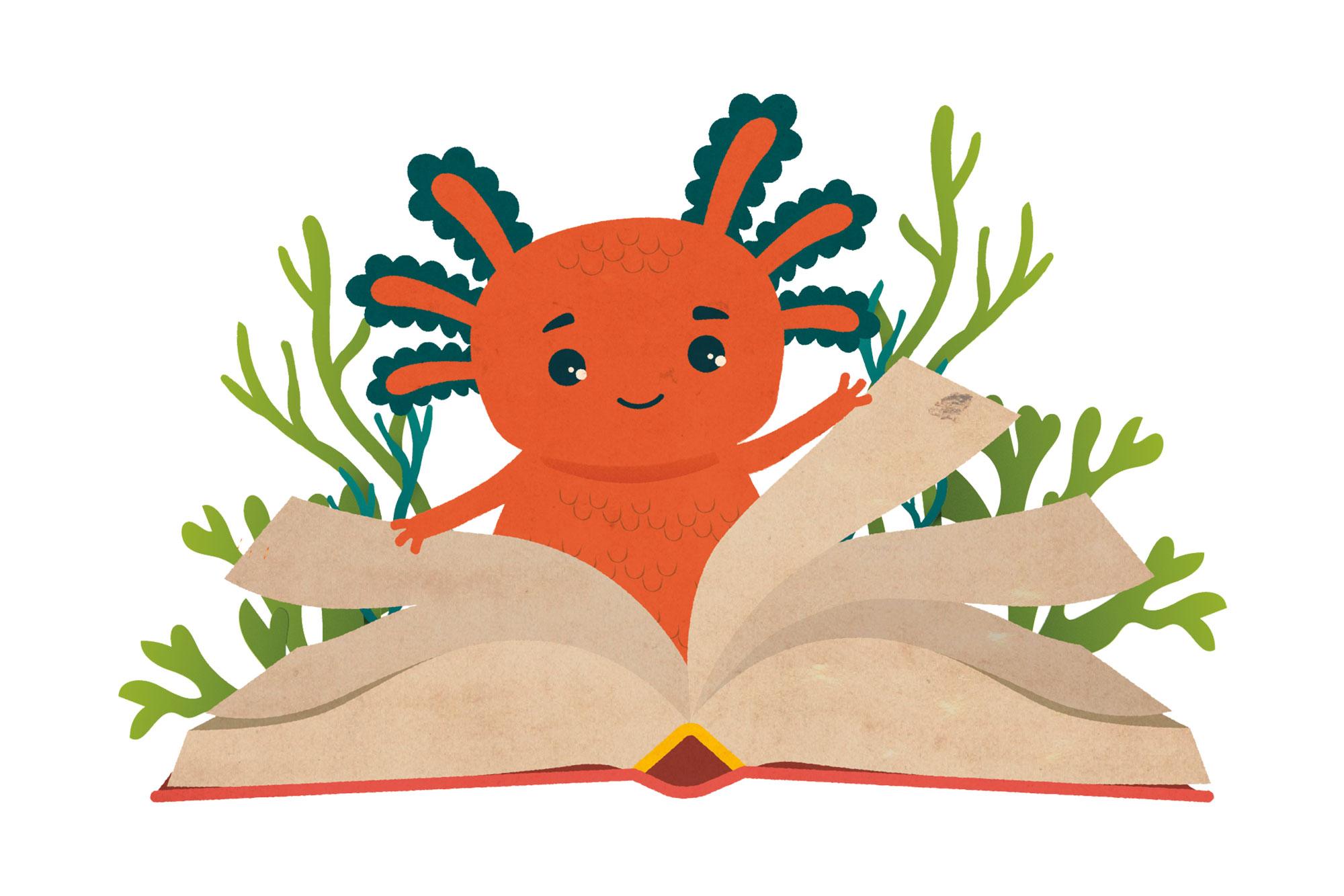 Lieska-lohikäärme kutsuu lukemaan