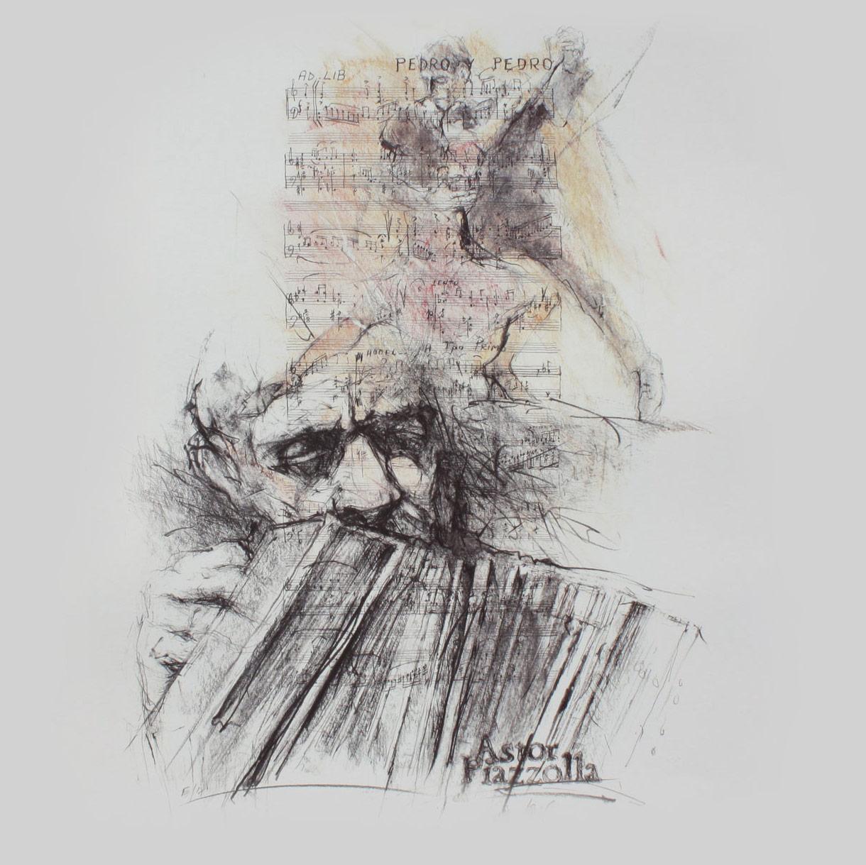 Astor Piazzolla by Hetty Krist