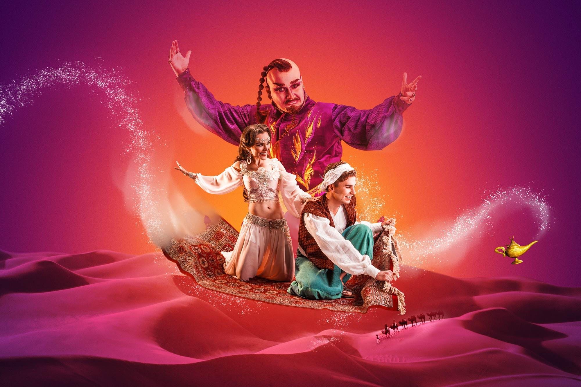 Aladdin ja taikalamppu. Kuva: Jukka Kontkanen ja Emilia Boulevard