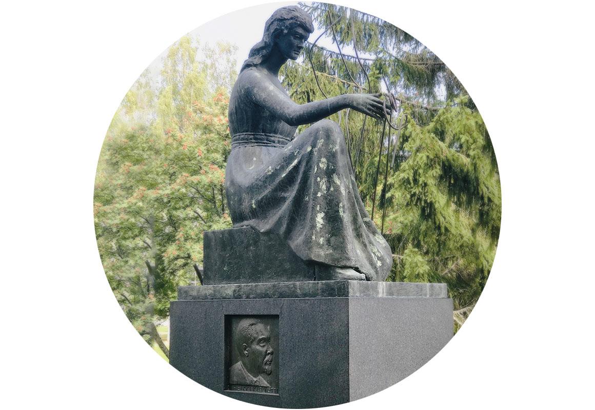 Kalervo Kallion Klemetti-Kuulan patsas
